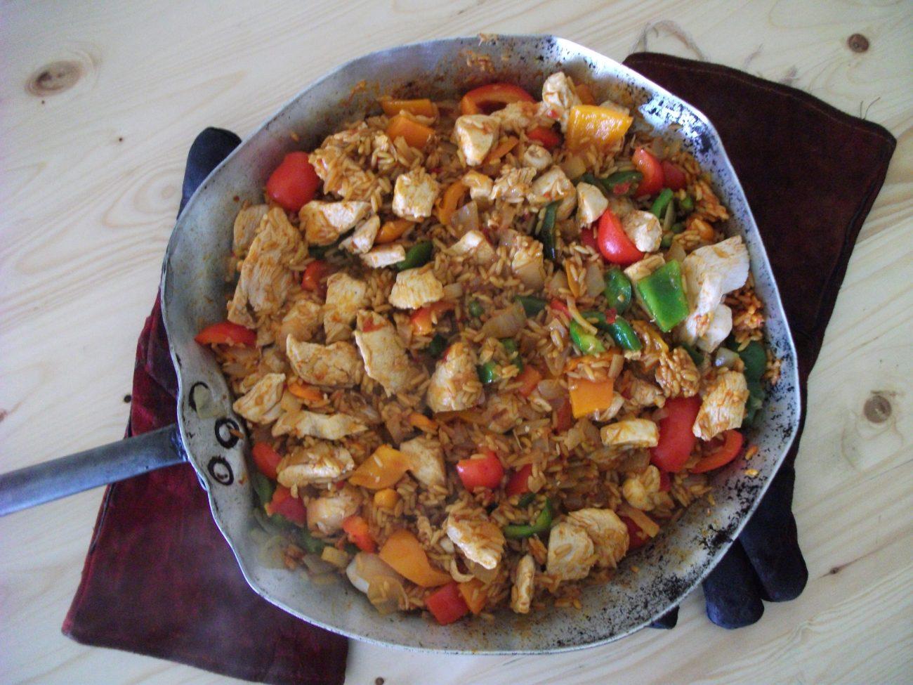 Chicken and Pepper Paella (Cheat Recipe)
