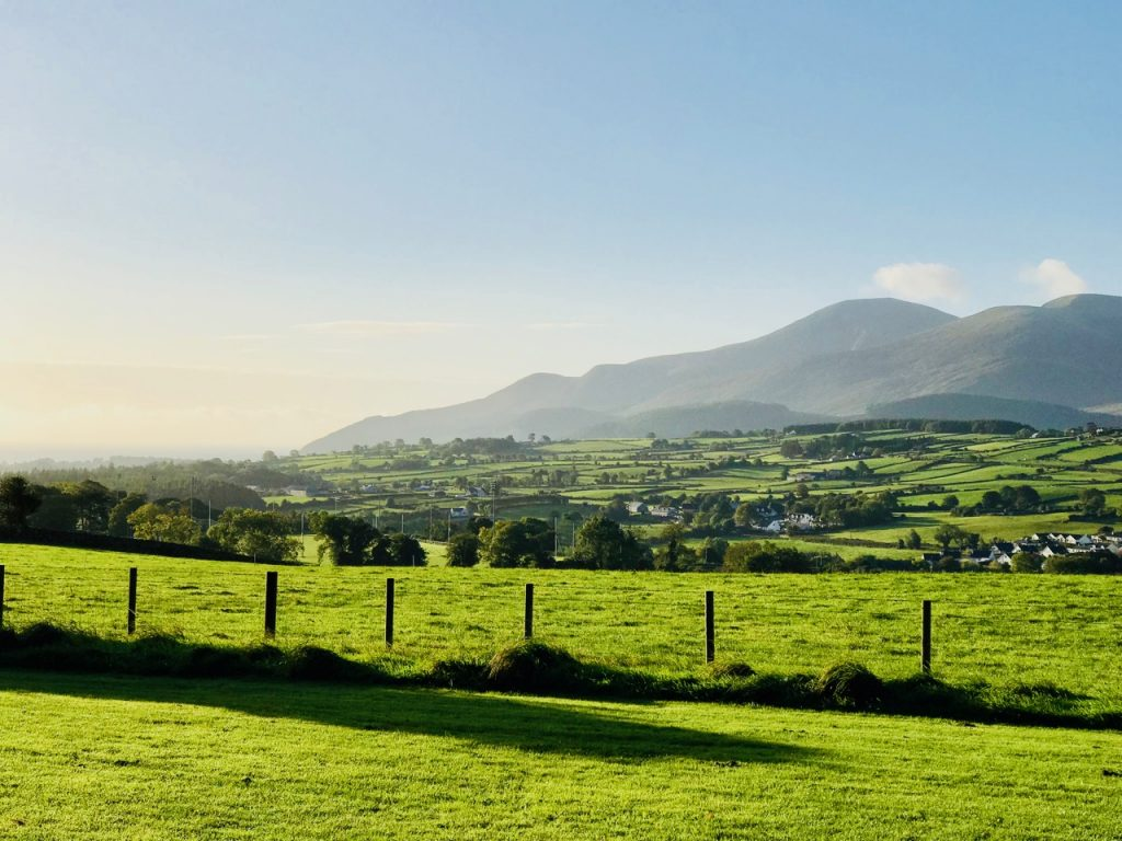 Overlooking the Mourne Mountains at Castlewellan Forest Park