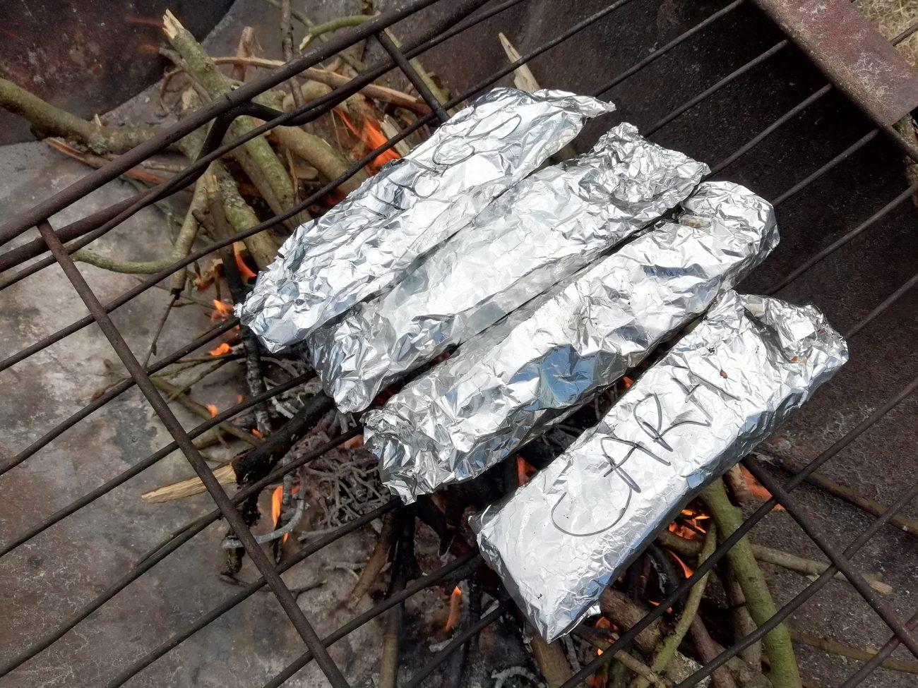 Campfire Pizza Rolls