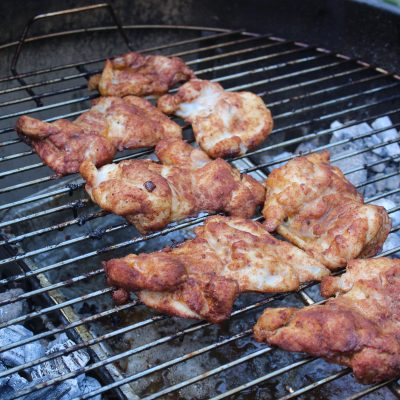 Chicken Thighs on Grill